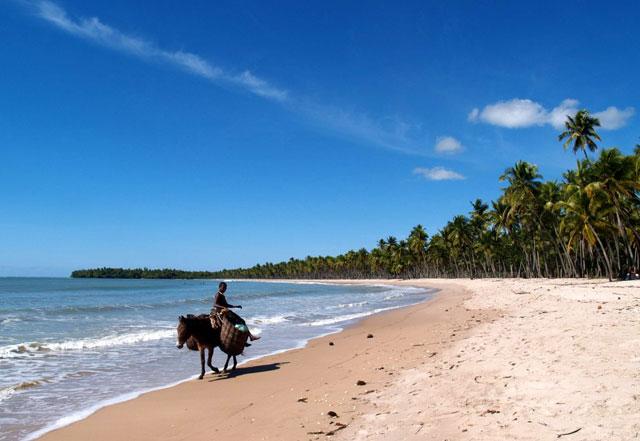playa en Boipeba (Bahía)