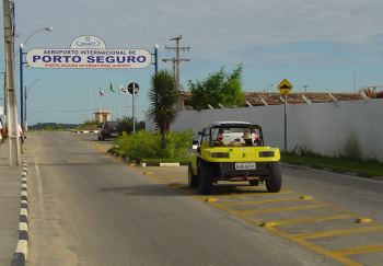 Salida del aeropuerto de Porto Seguro