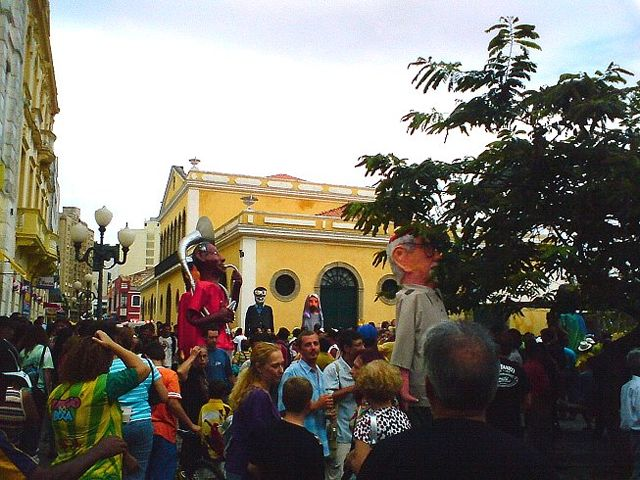 Carnaval en el centro de Florianópolis