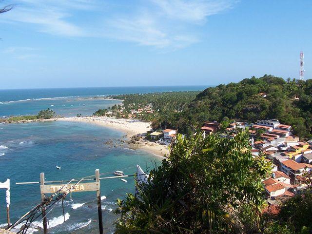 Vista de Primera y Segunda playa de Morro de São Paulo