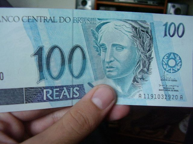 Billete de 100 Reales brasileños