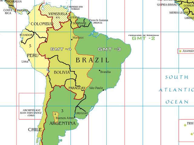 Husos horarios en Brasil