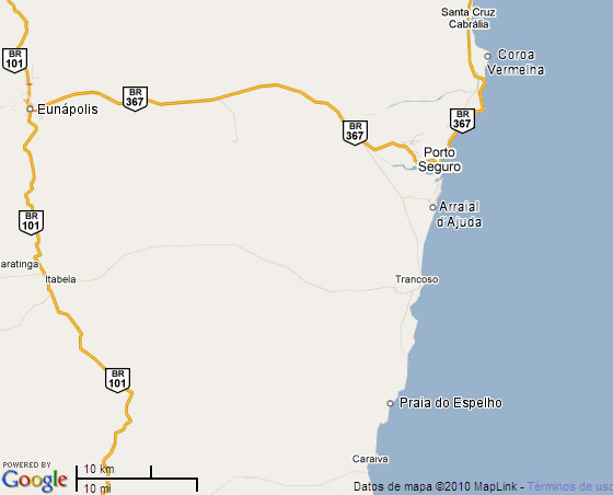 Mapa Costa del Descubrimiento