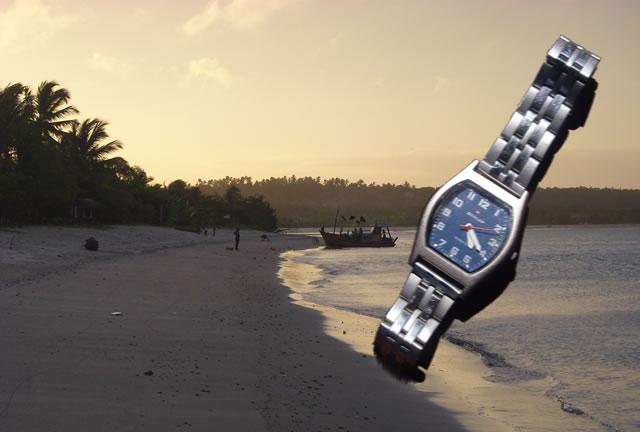 Playa del nordeste de Brasil al atardecer