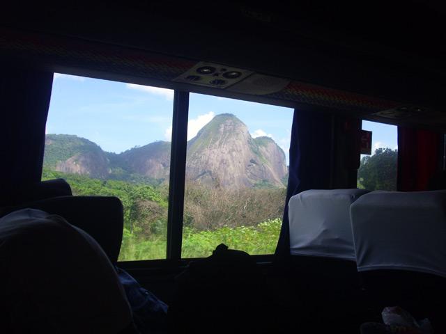 Viajando hacia Brasil en micro