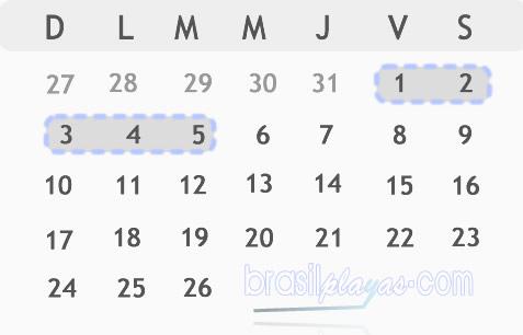 fechas del carnaval Brasil 2019