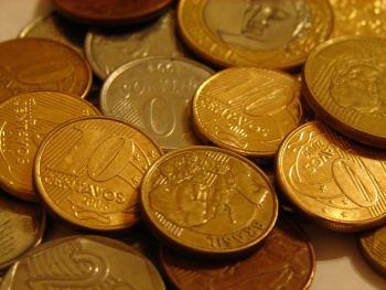 monedas, centavos de Real Brasileño