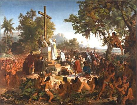 Pintura de Victor Meirelles: Primera Misa en Brasil