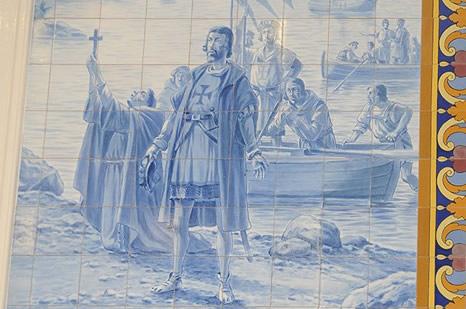 Azulejo con la imagen de Cabral