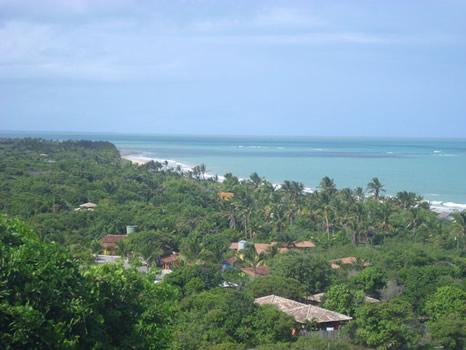 Vista de la costa de Trancoso