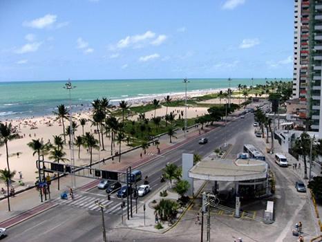 Playa de Boa Viagem en Recife, Nordeste de Brasil