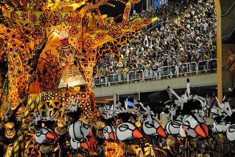 Desfile sambódromo Carnaval Río de Janeiro