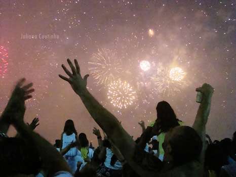 Festejos de Año nuevo en Río de Janeiro