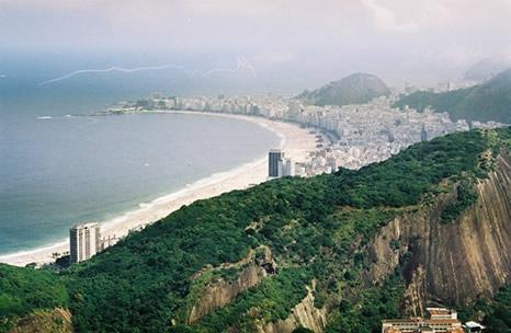 Playas Leme y Copacabana desde el Pan de Azucar