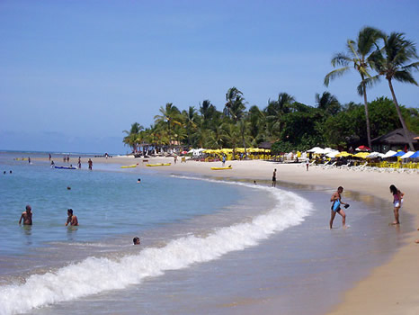 playa principal de Coroa Vermelha lado sur