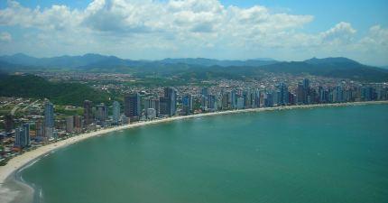 vista de la playa central desde el telesférico