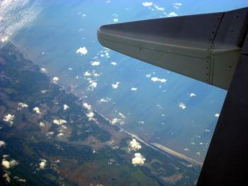 Sobrevolando playas de Brasil